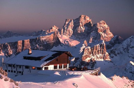 Excursion en ski aux Dolomites...