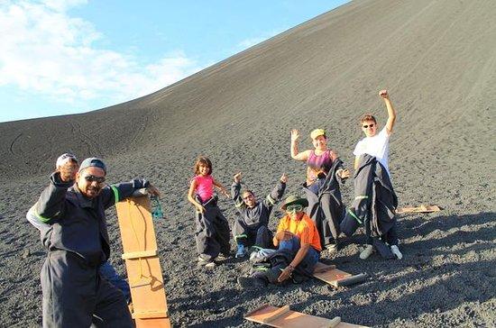 Cerro Negro und Vulkan-Sandboarding...