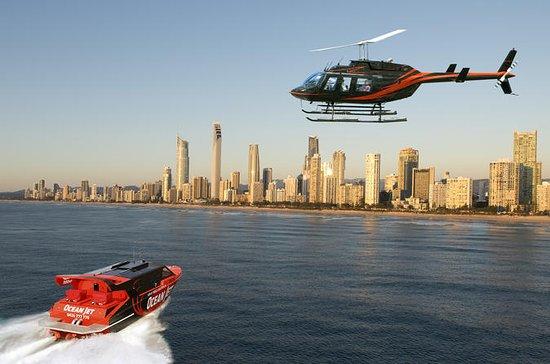 Combiné Gold Coast: vol en hydravion...