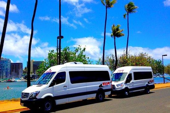 Navette aller-retour depuis l'aéroport vers Honolulu et Waikiki ou le...