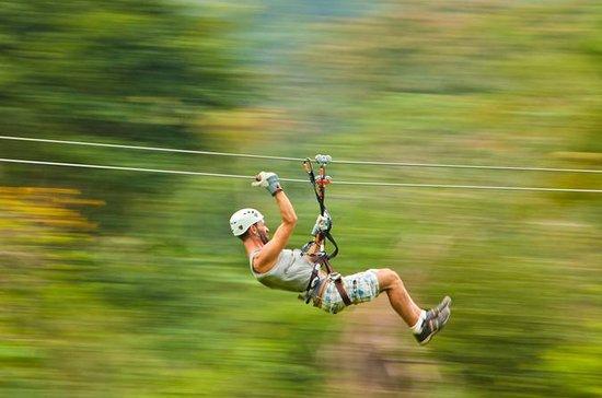 Nächtliches Zipline-Abenteuer
