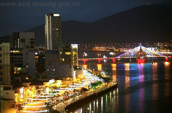 Da Nang by Night by Motorbike