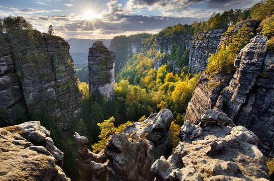 Elbe Canyon, Bastei Sandstone Bridge...
