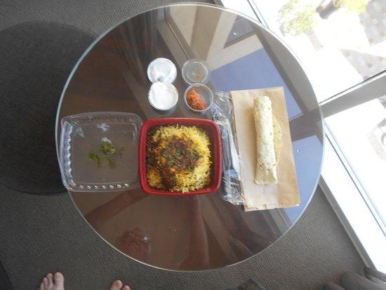 Centro Sharjah: Delicious Chicken Biryani from room service.