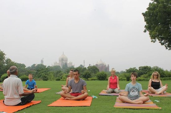 1-Hour Yoga Session Facing Taj Mahal...