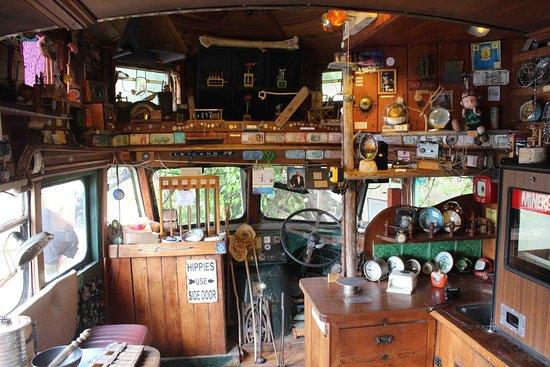 Papatowai, Selandia Baru: l'intérieur du bus