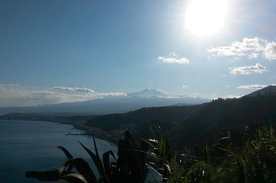 Etna and Taormina from Messina
