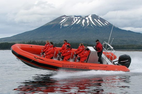 Ride an Ocean Raft Along a Volcanic