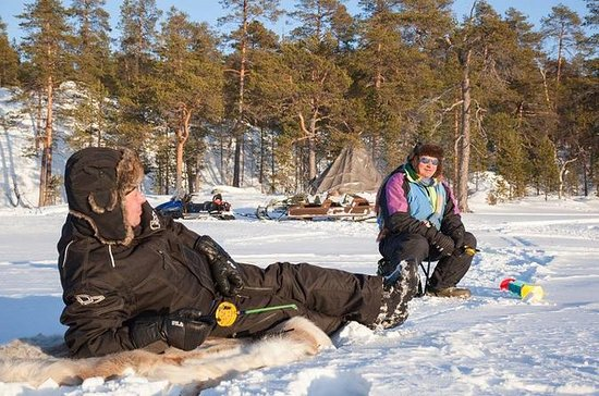 Lake Inari Ice Fishing Safari from...
