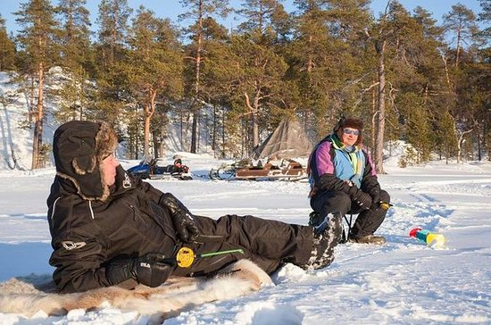 Lake Inari Ice-Fishing Safari from...