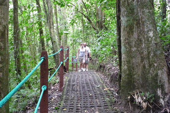 Combination Tour with Hanging Bridges Waterfall Volcano Hike and Hot...