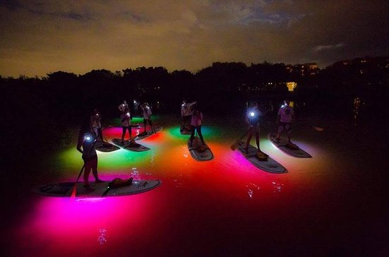 Sunset NEON Paddleboard Adventure