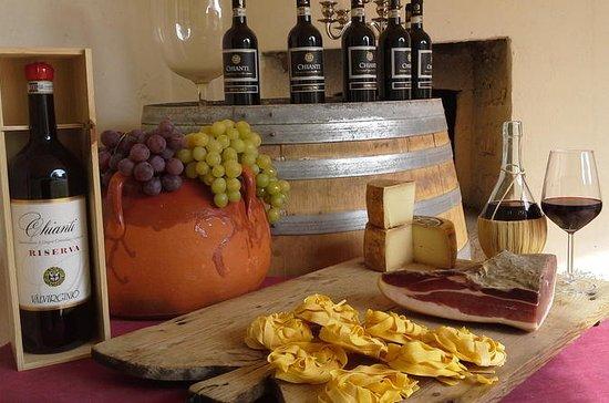 Cena e degustazione di vini in una