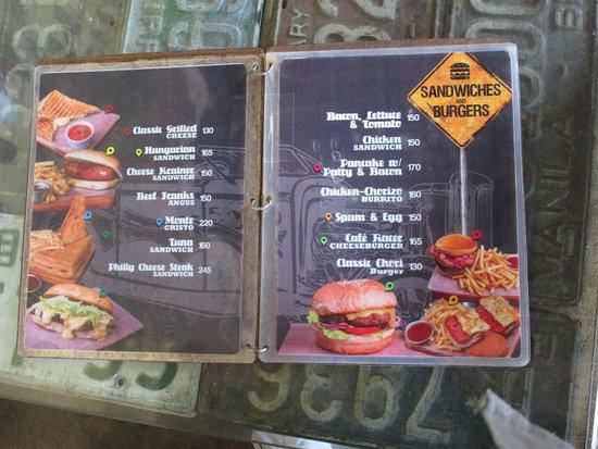 Cafe Racer Cebu Menu