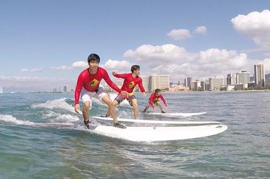 Surfing - Open Group Lessons - Waikiki, Oahu: Oahu Surf Lessons - Group Lesson - Right Outside Waikiki