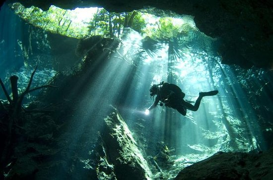 Mini Cenotes Scuba Diving Package in...