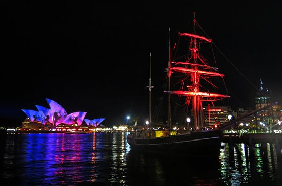 Sydney Harbour Tall Ship VIVID Dinner Cruise