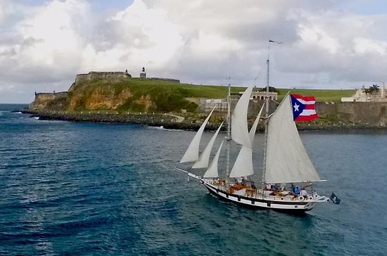 Old San Juan Harbor Sightseeing Sail on Vintage Style Schooner