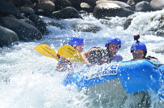 Full Day Class II-III Rafting and Canyoning Rappelling from La...