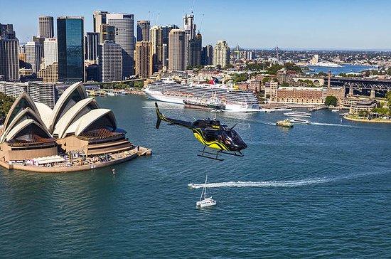 プライベートヘリコプターツアー:20分シドニーハーバーと沿岸便での送迎