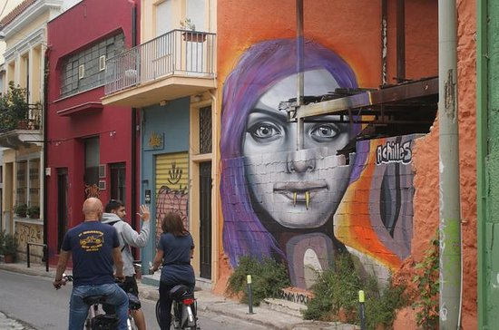 Tour in bici di Atene Street Art