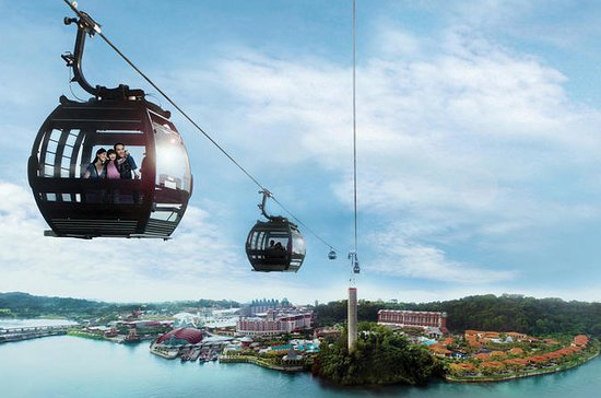 Singapore Sentosa Island Tour with Cable Car Ride and Wings of Time...