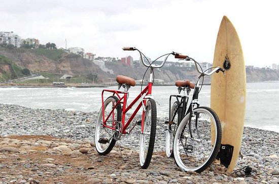 Surf Lesson plus Bike Rental in Lima