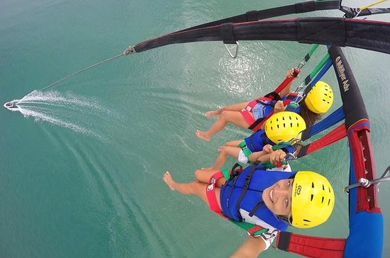 Triple Parasail Flight over the Bay...