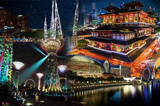 シンガポール夜間シティツアー