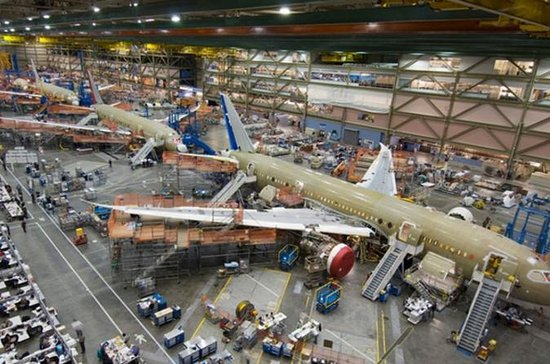 Boeing Factory og Future of Flight...