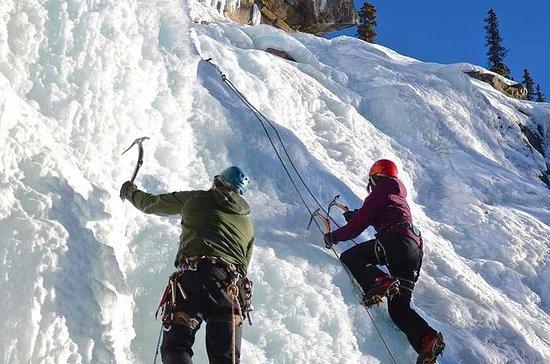 Escalada en hielo en Maligne Canyon