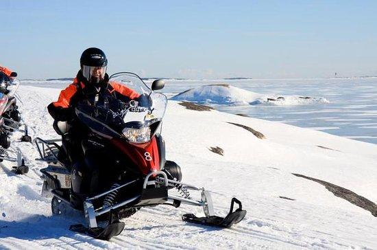 Safari de medio día en moto de nieve...