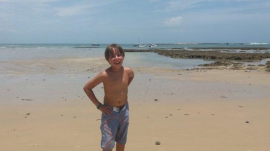 Villa Guaiamu Hotel: Tercera Playa con marea baja, justo frente al Hotel!