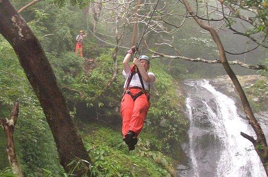 プンタレナスショアエクスカーション:ケーブル25本、11本の滝Zipline…
