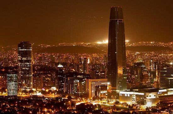 Santiago Night Tour with San Cristobal Hill and Dinner Show