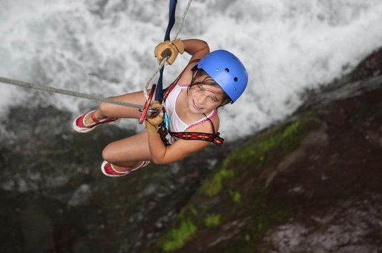 Rainforest Waterfall Rappelling and
