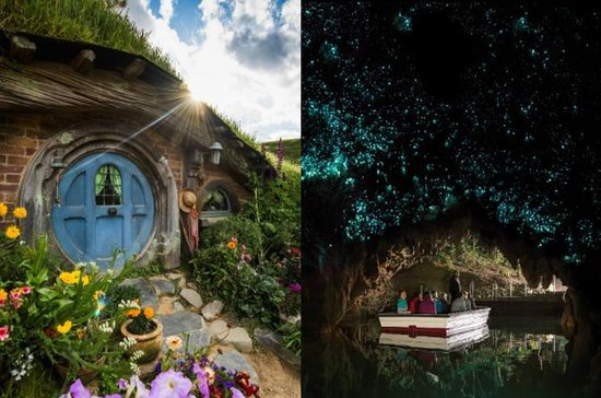Hobbiton Movie Set and Waitomo...