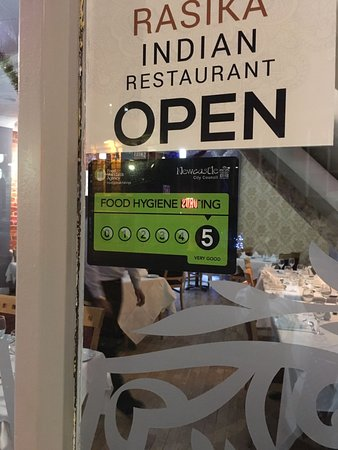 rasika indian restaurant food hygiene rating 5