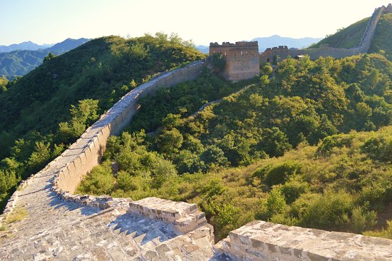 Luanping County, China: The Great Wall in its original condition