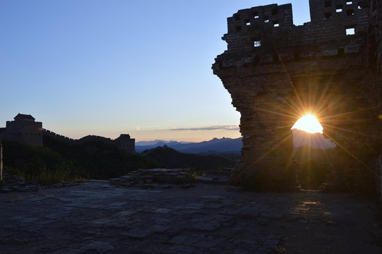Luanping County, China: Sunset
