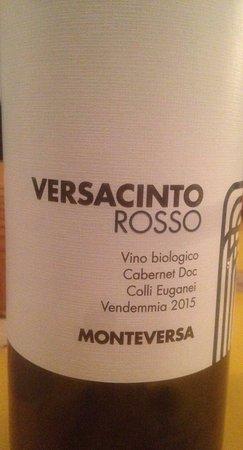 Lozzo Atestino, Italia: Monteversa Versacinto 2015 Cabernet (per i crudi)