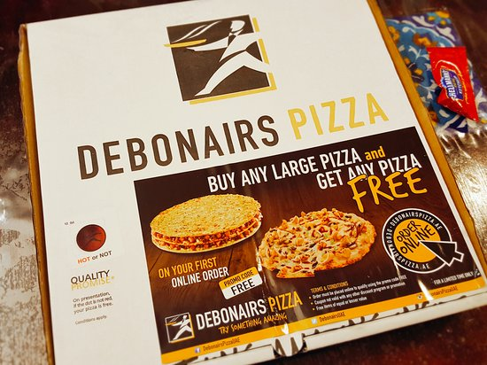 debonairs pizza pizza delivery box