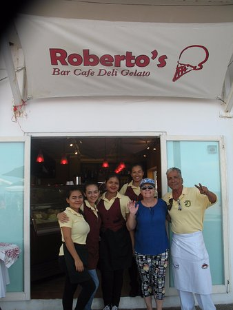 Roberto's Cafe: My wife with the staff. We loved them!