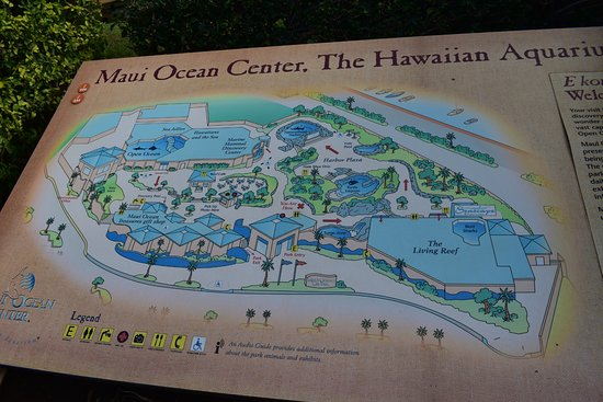 The map of the ocean center Picture of Maui Ocean Center Wailuku
