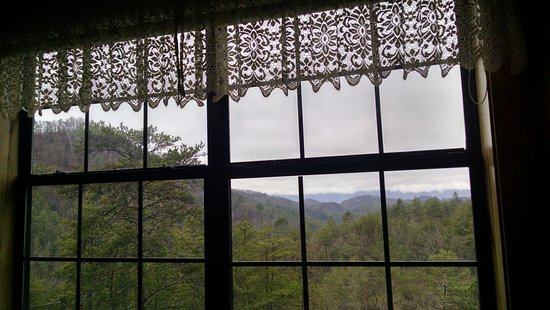 Blue Smoke Mountain Cabins: view from downstairs bedroom