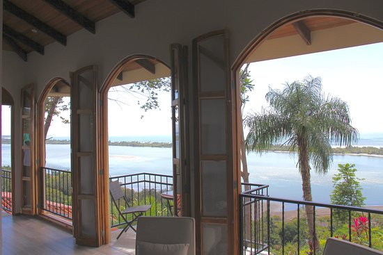 El Castillo Hotel: Owner's Two Bedroom Suite - Three Frensh Doors Looking Out to The Pacific Ocean and Garza Island