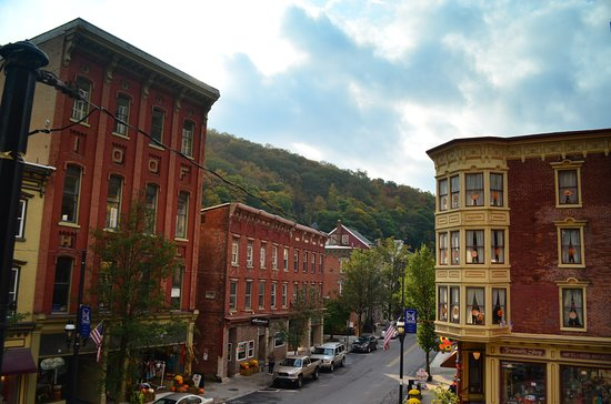 Jim Thorpe, Pensylwania: View into town from upper balcony