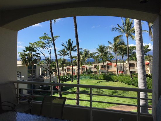 Palms at Wailea: View from balcony of #806