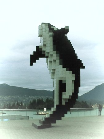 Photo of Monument / Landmark Digital Orca at 1055 Canada Place, Vancouver V6C 3C1, Canada