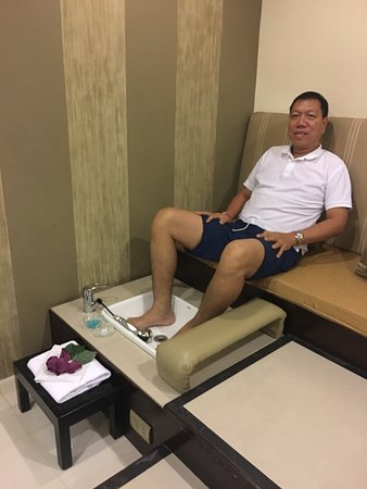 The A.Venue Hotel: Complimentary foot spa